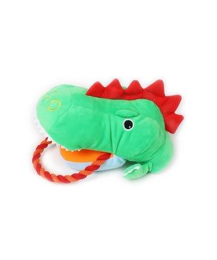 PET PARADISE なりきりペッツ 犬用おもちゃ パペットトイ恐竜 黄緑