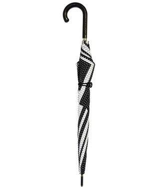 +RING 【限定/日本製】レディース向け長傘60cm ドット SR213 黒