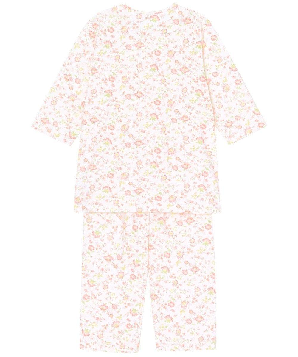 Wing 【お値打ち品パジャマ】綿100%つる花柄 ウイング/ワコール EP8918 オレンジ