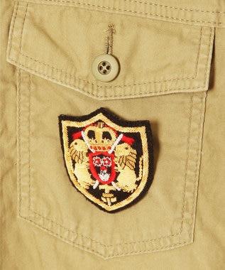 GRACE CONTINENTAL アーミーシャツジャケット ベージュ