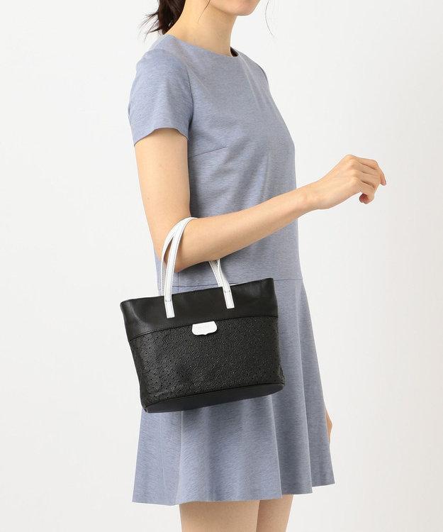 CYPRIS 【プンティーノ】日本製 牛革パンチングトートバッグ(S)