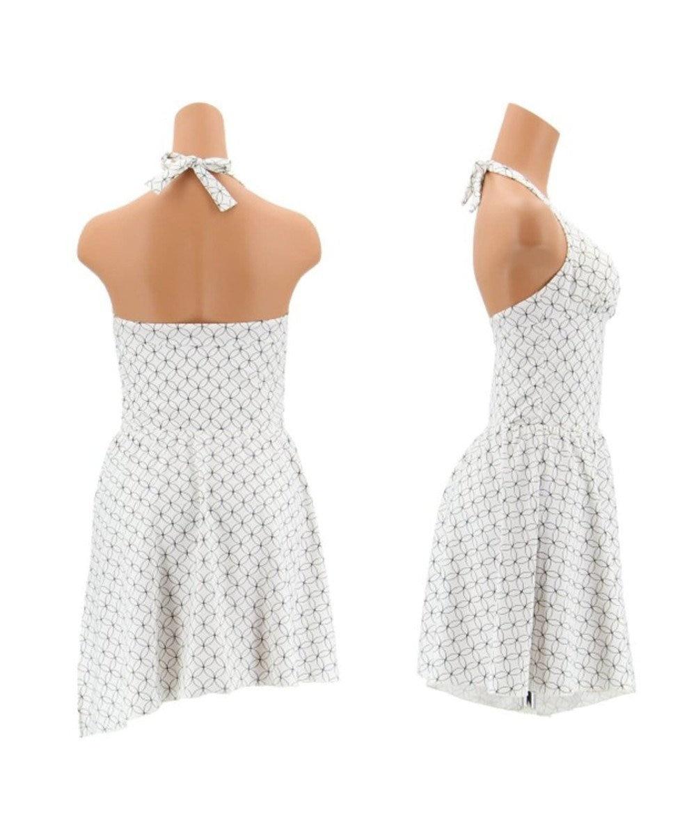 San-ai Resort(三愛水着楽園) 【Coral veil】サークル スカート付ワンピース水着 ホワイト