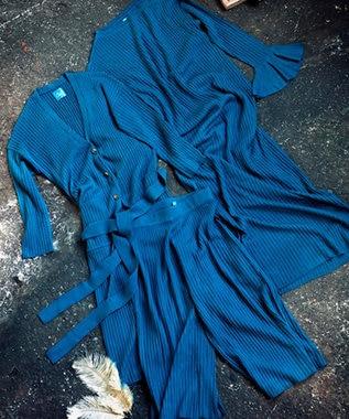 Chut! INTIMATES 【パジャマ・ルームウェア】 リブ フレアパンツ RIB FLARE PANTS (C234) ダークグリーン