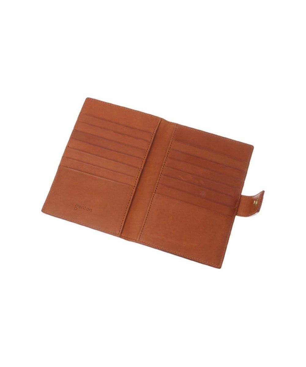 genten genten ゲンテン アマーノ 通帳&カードケース チャ