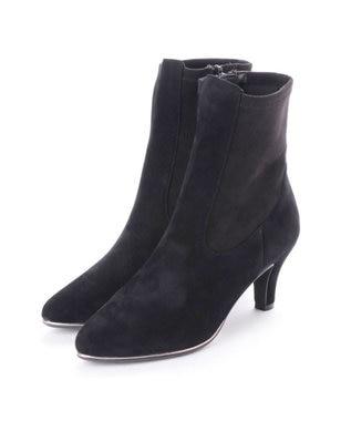 MODE ET JACOMO <Marie femme>メタルモチーフストレッチショートブーツ ブラックスエード