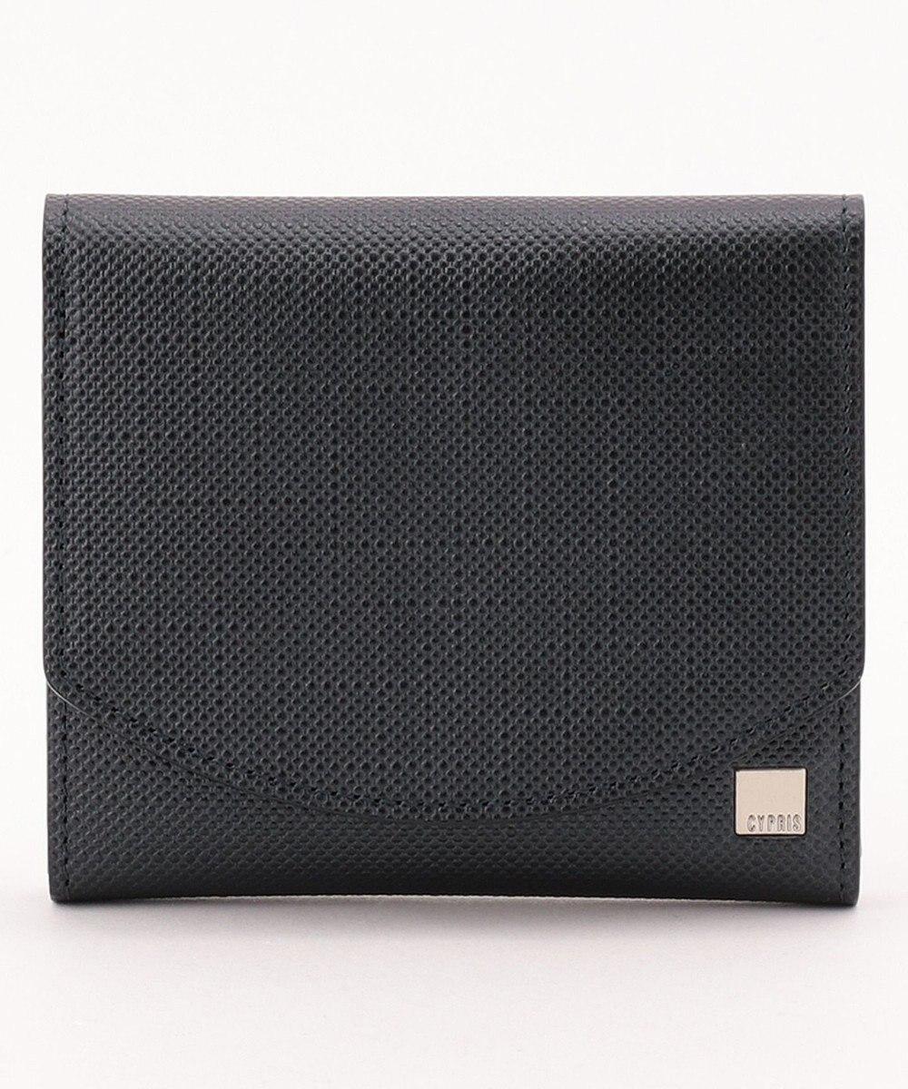 CYPRIS 【カード収納10枚】 ポン コンパクトハニーセル二つ折財布 日本製 ネイビー[05]