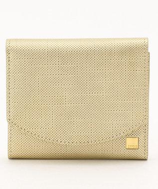 CYPRIS 【カード収納10枚】 ポン コンパクトハニーセル二つ折財布 日本製 ゴールド[08]