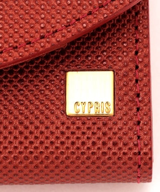 CYPRIS 【カード収納10枚】 ポン コンパクトハニーセル二つ折財布 日本製 レッド[04]