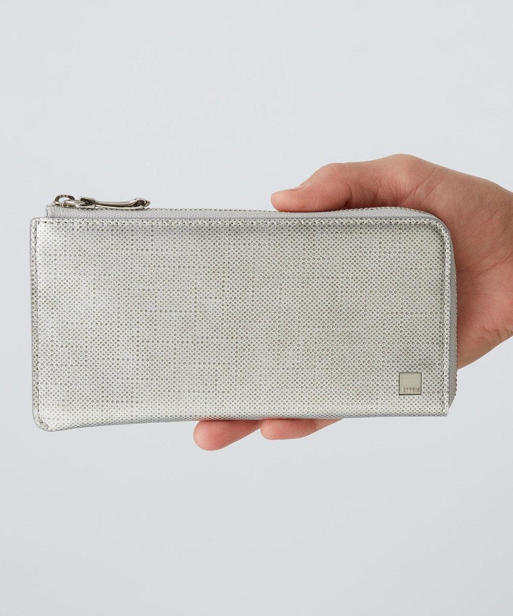 CYPRIS 【カード収納11枚】 ポン LFスリム・コンパクト長財布 日本製 シルバー[09]