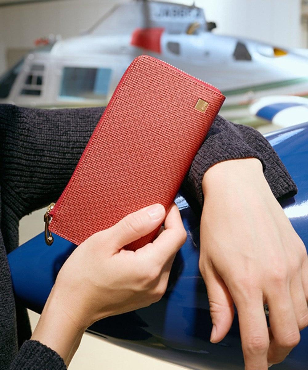 CYPRIS 【カード収納11枚】 ポン LFスリム・コンパクト長財布 日本製 レッド[04]