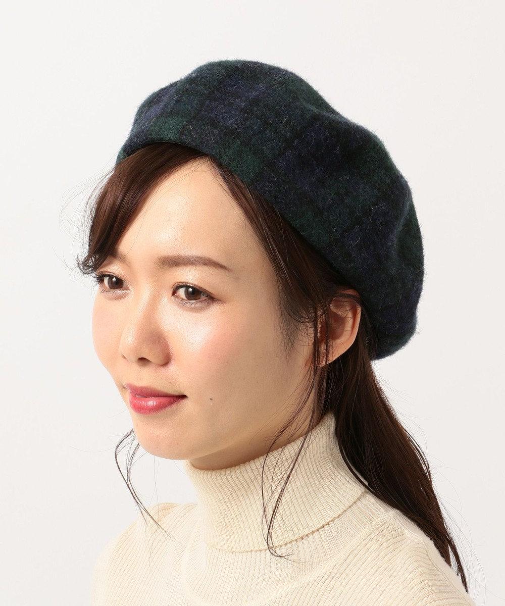 Hat Homes 【WOMEN】ミルサ チェック バスクベレー ネイビー