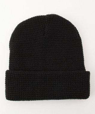 Hat Homes 【MENS】カスターノ ワッフルニットワッチ 黒