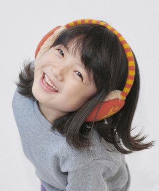Hat Homes 【キッズ】 ビーディージェム ボーダーニットイヤーマフ ORANGE