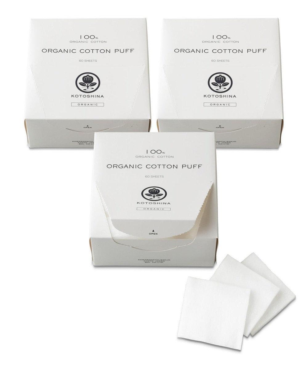 KOTOSHINA オーガニックコットンパフ3個 ホワイト