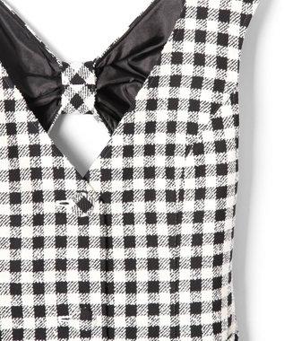 GRACE CONTINENTAL ツイードジャンパースカート ブラック