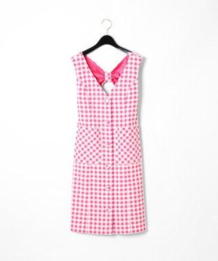GRACE CONTINENTAL ツイードジャンパースカート ピンク