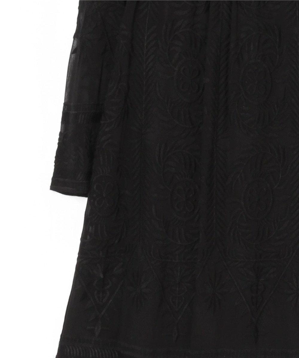 GRACE CONTINENTAL ハイネック刺繍チュニックトップ ブラック