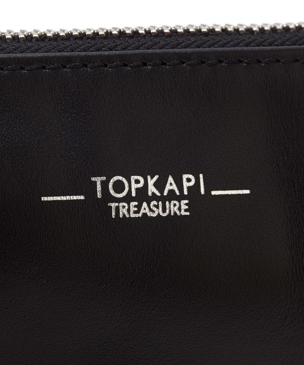 TOPKAPI スムースレザースタッズショルダーバッグ ブラック