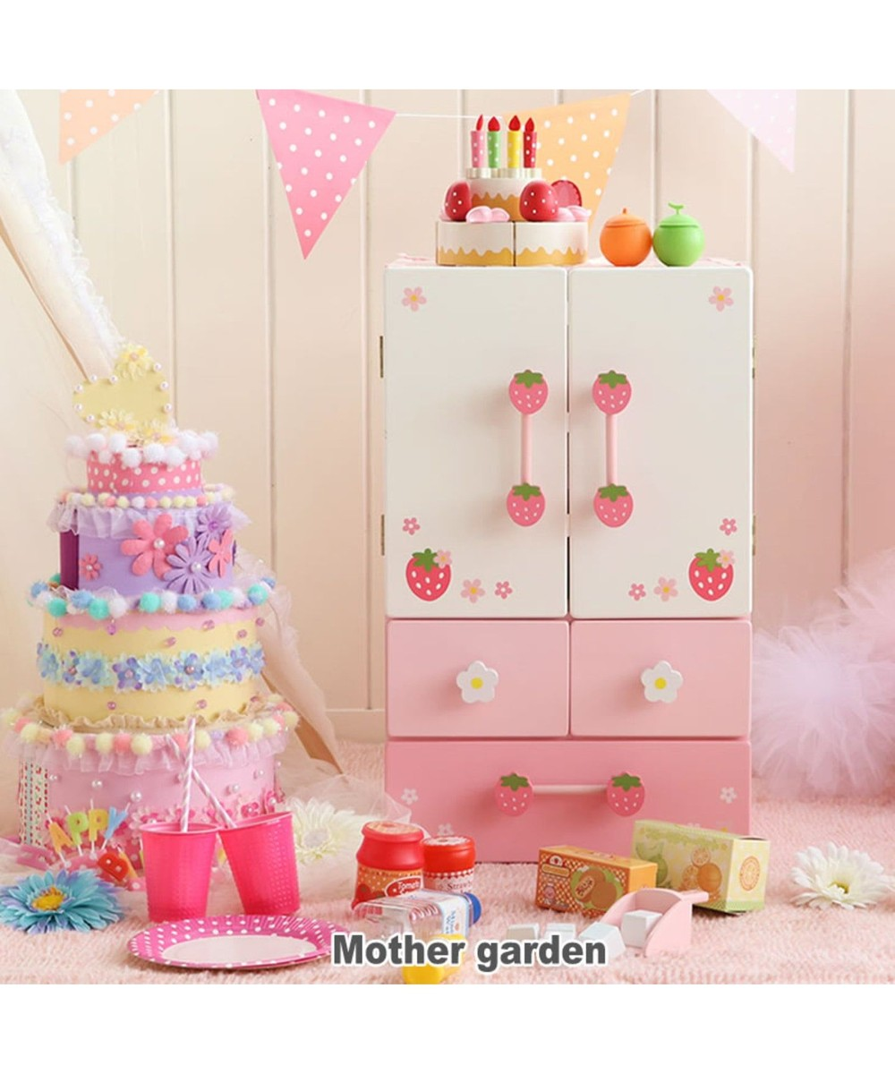 【オンワード】 Mother garden>おもちゃ マザーガーデン 木のおままごと キューティーデラックス冷蔵庫 441-95892 ピンク(淡) - 【送料無料】