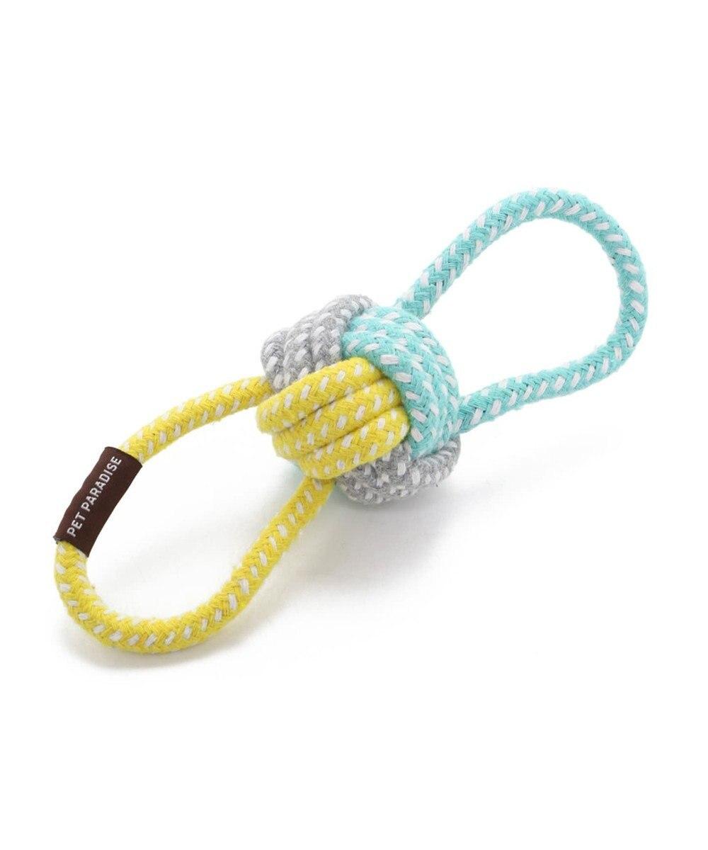 PET PARADISE フィールドグライド 犬用おもちゃ 引っ張りボールトイ青黄 水色