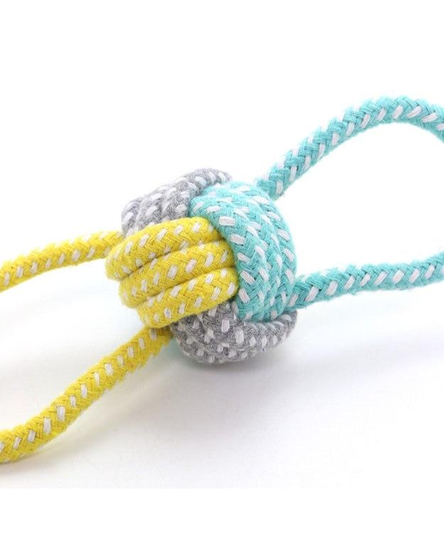 PET PARADISE フィールドグライド 犬用おもちゃ 引っ張りボールトイ青黄