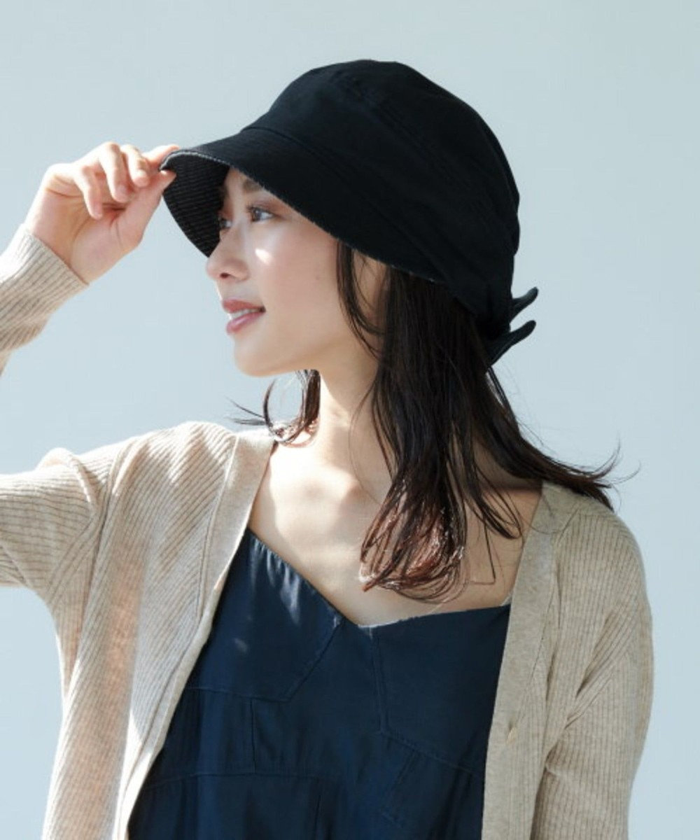 Hat Homes 【サイズ調整可能キャスケット】 ミルサルミュー サイズフリーキャスケット 黒