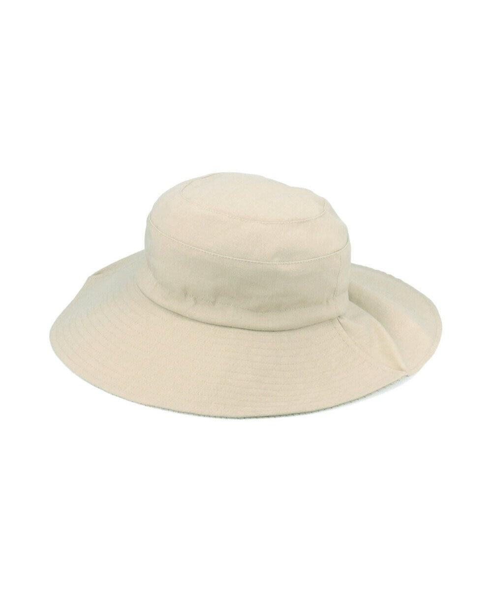 Hat Homes 【サイズ調整可能ハット】 ミルサルミュー サイズフリーギャザーハット ベージュ