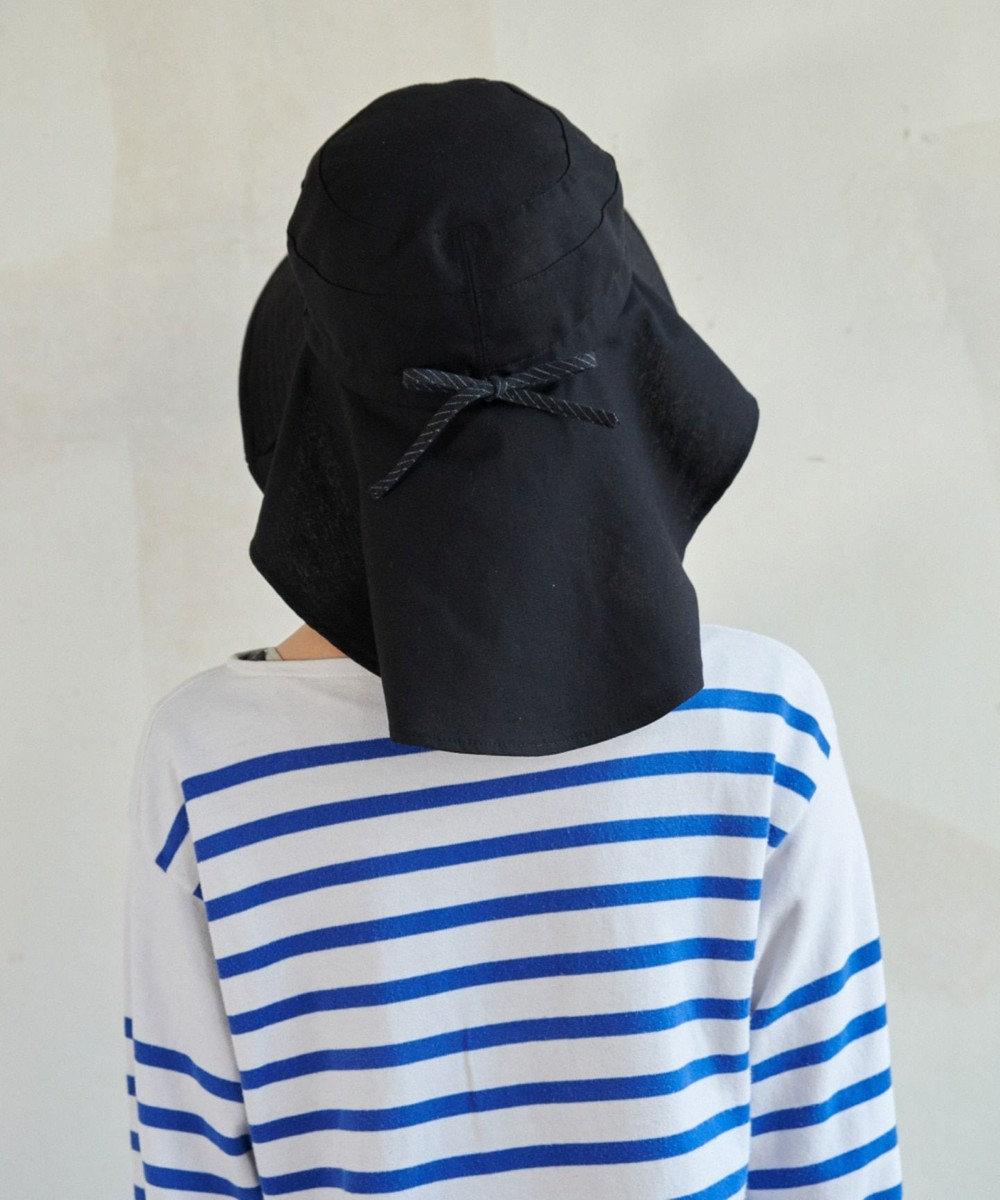 Hat Homes 【サイズ調整可能ハット】 ミルサルミュー サイズフリーギャザーハット 黒