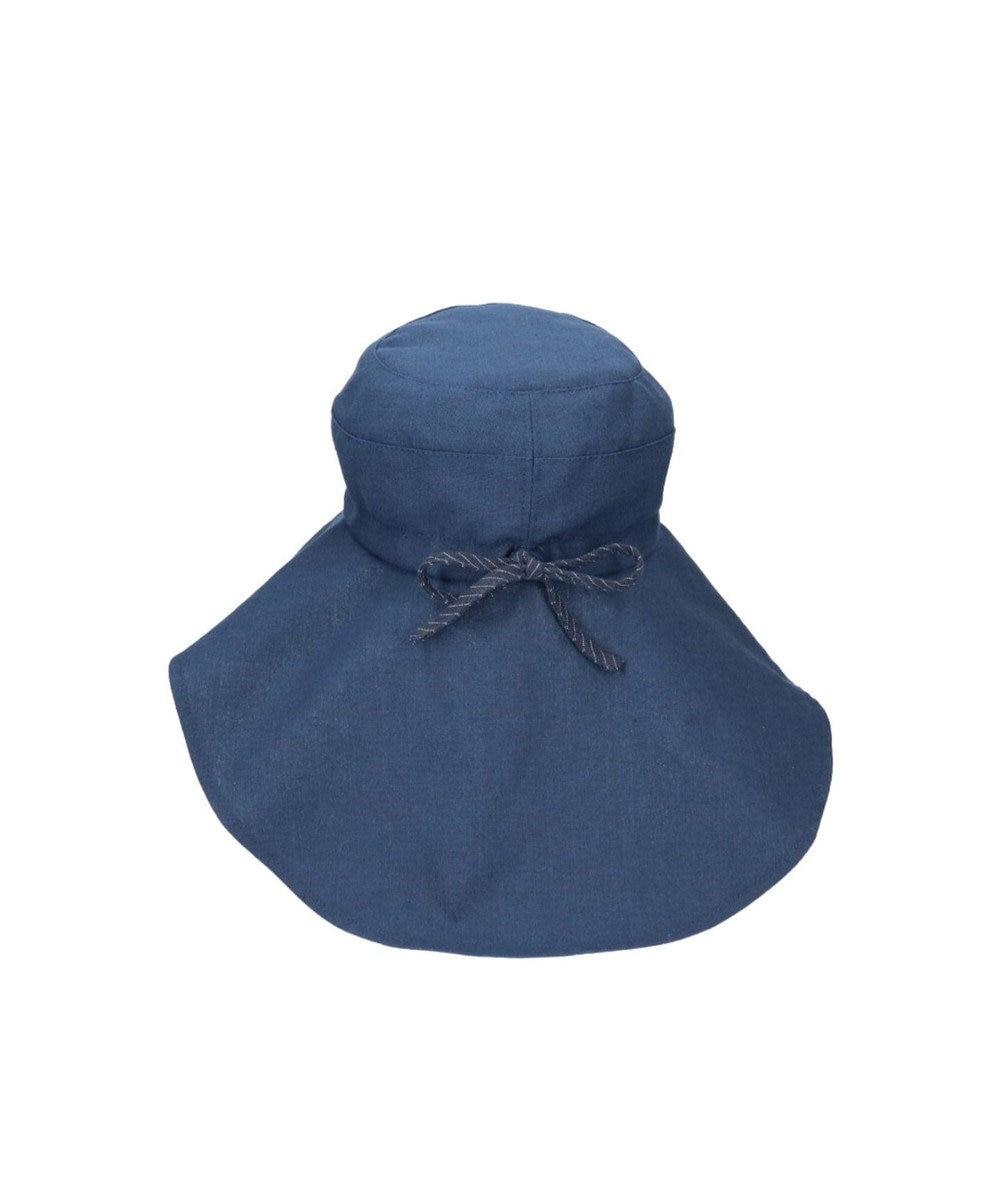 Hat Homes 【サイズ調整可能ハット】 ミルサルミュー サイズフリーギャザーハット ネイビー