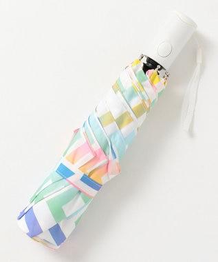 MOONBAT estaa 自動開閉折りたたみ傘 UV あまやどり スカイブルー