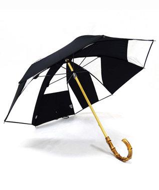 +RING 【限定/日本製】雨傘(長ショート)ビニール&ポリエステル BLK SR258 黒