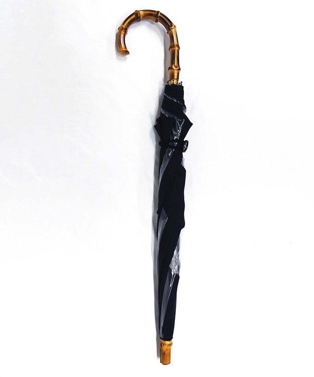 +RING 【限定/日本製】雨傘(長ショート)ビニール&ポリエステル BLK SR258