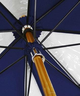 +RING 【限定/日本製】雨傘(長ショート)ビニール&ポリエステル NVY SR259 紺