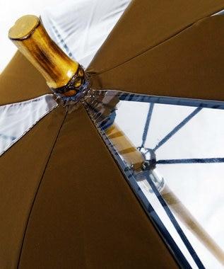 +RING 【限定/日本製】雨傘(長ショート)ビニール&ポリエステル BRN SR260 ブラウン