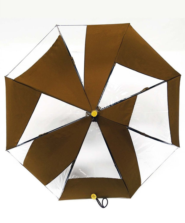+RING 【限定/日本製】雨傘(長ショート)ビニール&ポリエステル BRN SR260