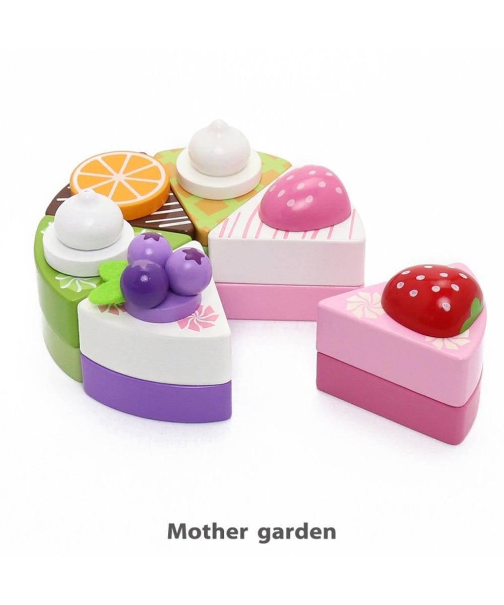 【オンワード】 Mother garden>おもちゃ マザーガーデン ケーキ6個セット 木のおままごと マルチカラー 0 【送料無料】