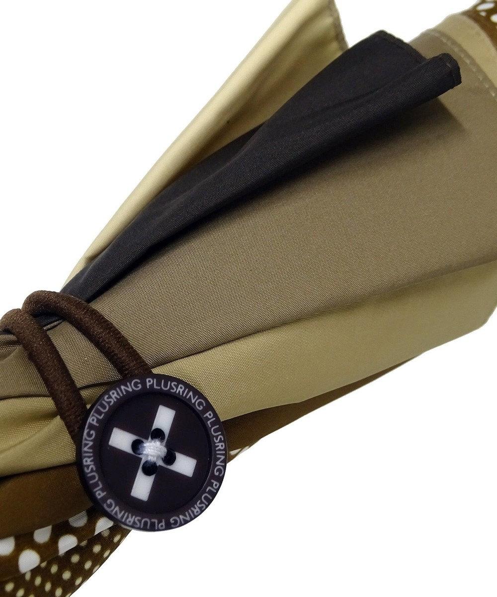 +RING 【プラスリング】数量限定 UNISEX 長傘60cm BRN-DOT T722 ブラウン