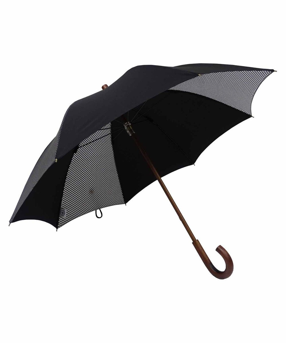 +RING 【数量限定】晴雨兼用(長ショート) BLK-DOT T755 黒