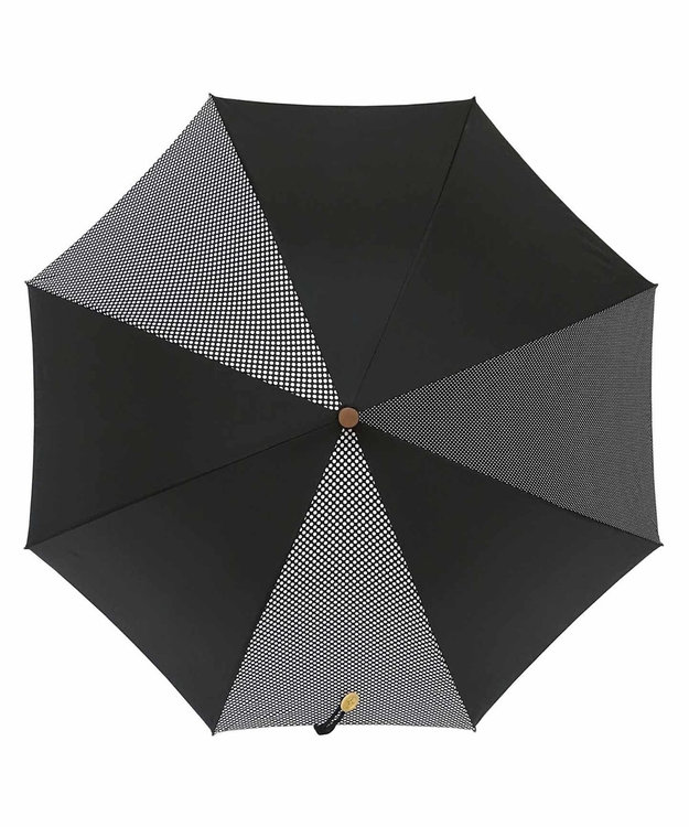 +RING 【数量限定】晴雨兼用(長ショート) BLK-DOT T755