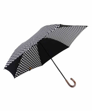 +RING 【数量限定】晴雨兼用(折傘) BLK-Heart T760 黒