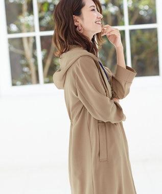 Tiaclasse 【洗える】軽さが魅力のフーテッドライトコート ベージュ