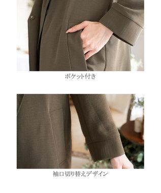 Tiaclasse 【洗える】軽さが魅力のフーテッドライトコート カーキ