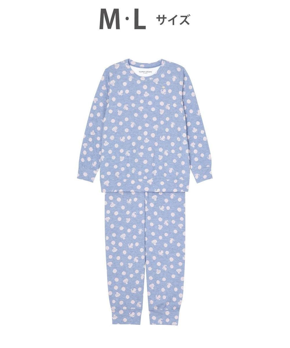 tsumori chisato SLEEP シェルドット パジャマ /ワコール UDO135 ブルー