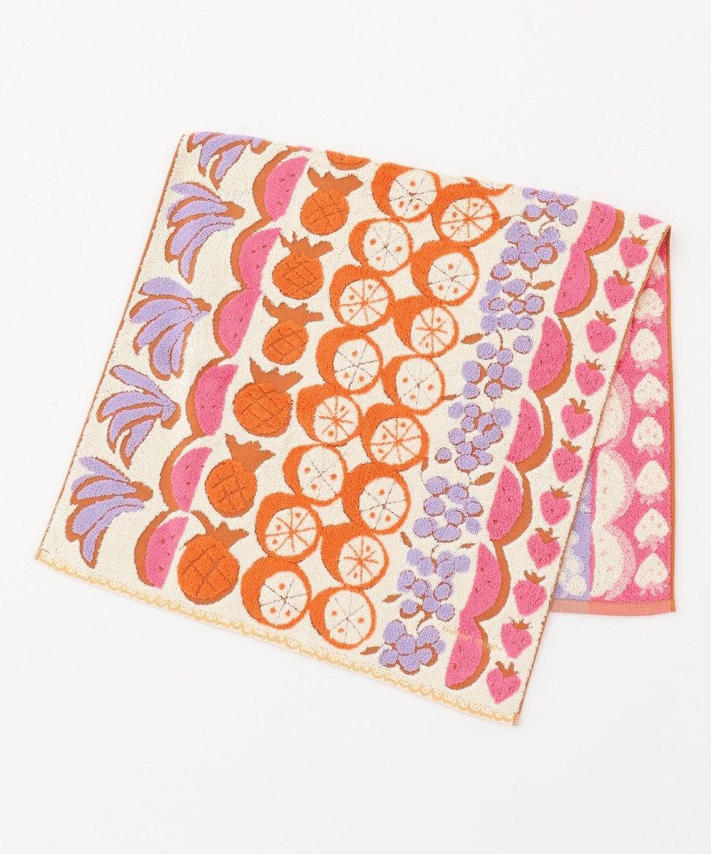 tsumori chisato SLEEP フルーツストライプ バスタオル /ワコール ピンク