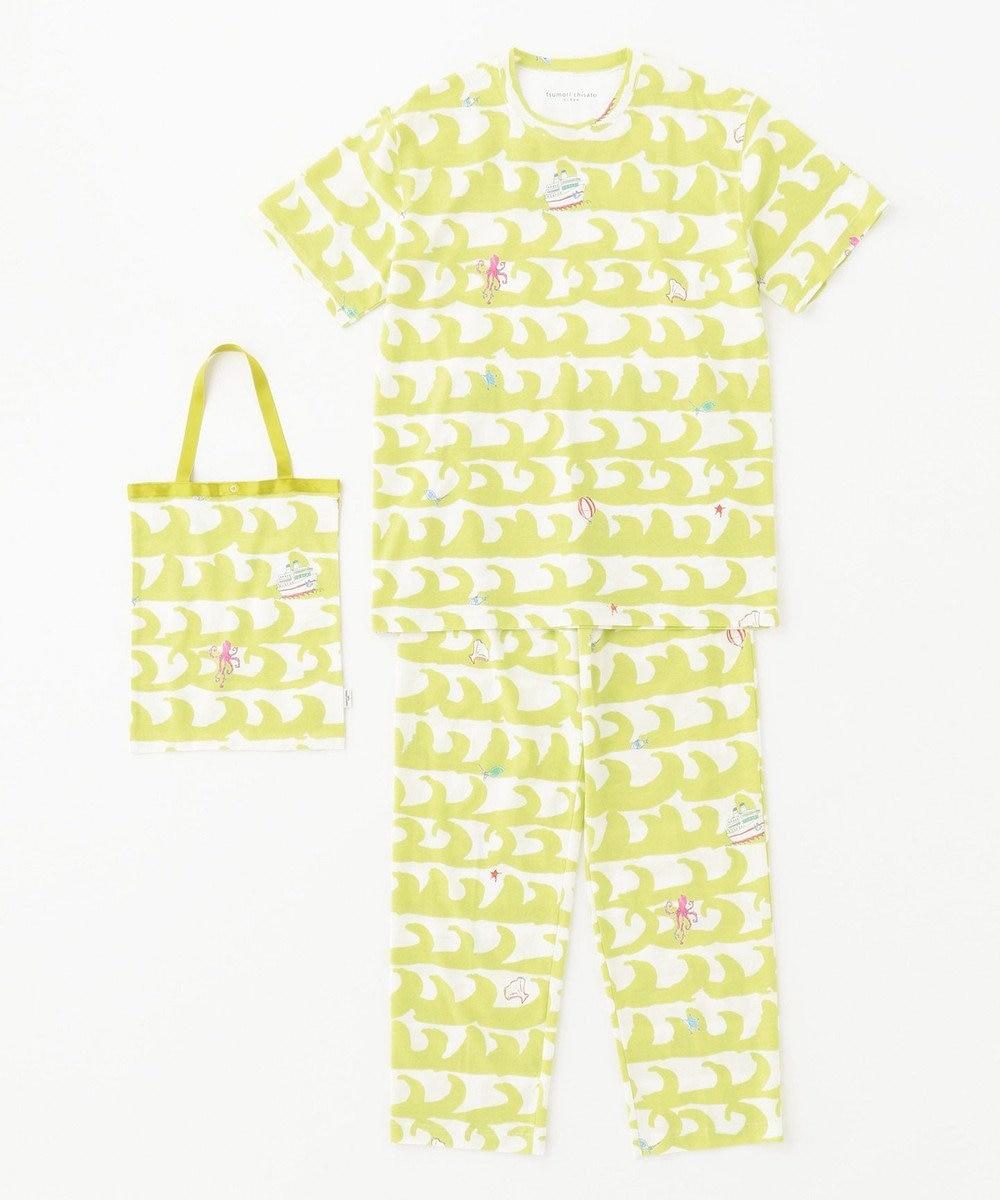 tsumori chisato SLEEP 5分袖+ロング丈  トートバック付  メンズパジャマ/ワコール UGO203 イエロー