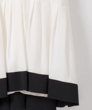 GRACE CONTINENTAL バイカラーラインドレス ホワイト
