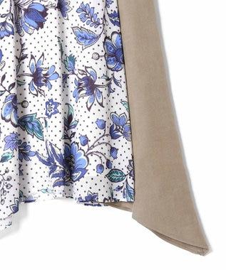 GRACE CONTINENTAL バティックフラワースカート ブルー