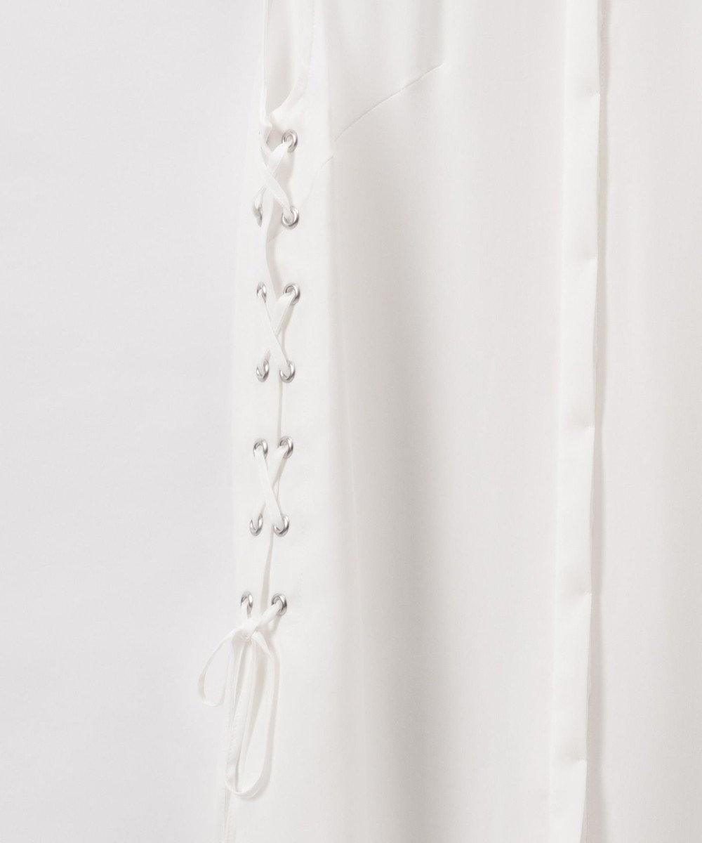 GRACE CONTINENTAL サイドレースアップシャツブラウス ホワイト