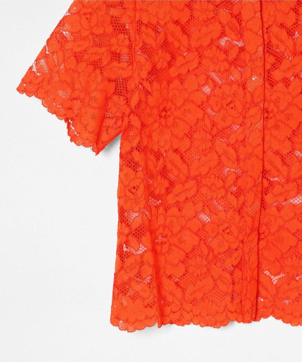 GRACE CONTINENTAL レースショートブラウス オレンジ