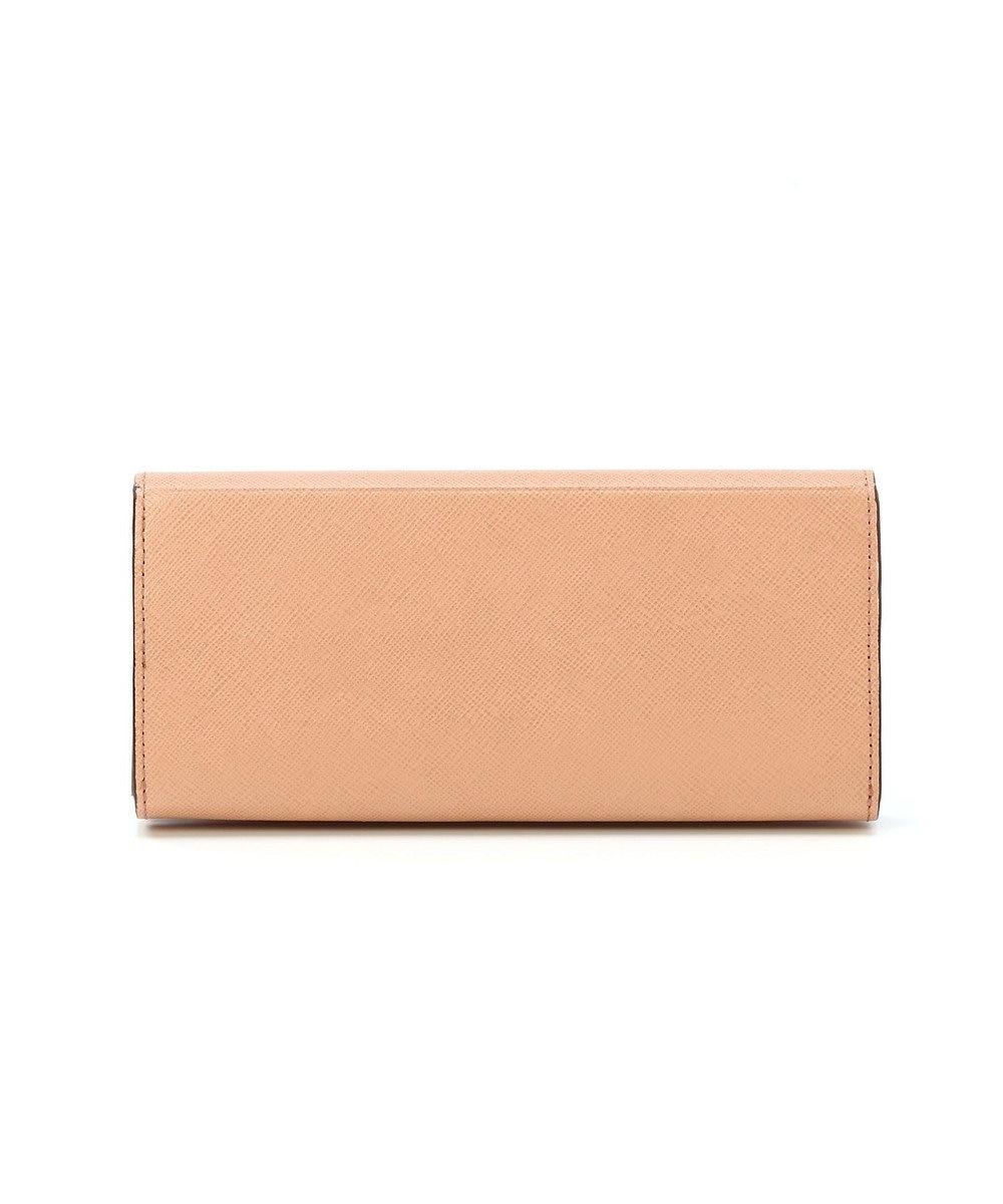 TOPKAPI 角シボ型押し・かぶせのフタ長財布 CLASSICO クラシコ ピンクベージュ